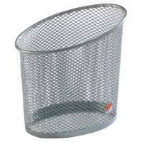 Cubilete metálico color gris ALBA Mesh  Dimensiones:   105 x 70 x 105mm