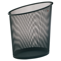 Papelera metálica color negro ALBA Mesh  Dimensiones:    355 x 240 x 390mm