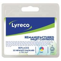Cartucho de tinta LYRECO tricolor compatible con HP 22 para DJ3920