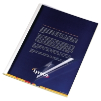 Thermobindemappe Pavo Standard A4, 1,5 mm für 10 Blatt weiss, Pk.à 100 Stk.