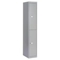 Bisley garderobekast met 2 compartimenten 30,5x180,2x45,7cm lichtgrijs