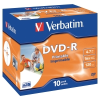 Verbatim DVD-R  jewel case 120 MN 4,7 GB- pak van 10