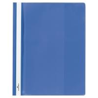 Schnellhefter Durable Duraplus 2579 A4+, mit Sichttasche, blau