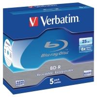 Blue-ray Disc BD-R Verbatim, Jewel Case, 25 GB, Packung à 5 Stück
