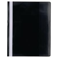 Exacompta 439901B Premium snelhechtmappen A4 PVC zwart - pak van 10