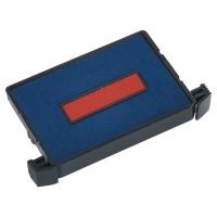 Trodat 6/4750 inktkussen 41x24mm blauw/rood voor 4750, 4750 L - Pak van 2