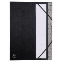 Triediaca kniha A - Z s registrom Exacompta A4 čierna