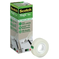PACK DE 9 RUBANS ADHESIFS SCOTCH MAGIC 900 BOITE 100% RECYCLEE ET RECYCLABLE