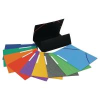 Teczka kartonowa LYRECO z gumką 3 skrzydłowa A4 miks kolorów opakowanie 25 sztuk