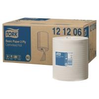 Caja de 6 bobinas de toallas TORK papel reciclado 2 capas 160 m blanco