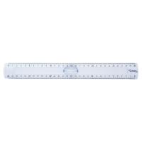 Lyreco schoolliniaal plastic 2 randen 30 cm