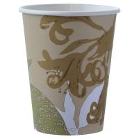 Pack de 50 vasos de cartón biodegradable DUNI Eco echo 240cc con diseño marrón