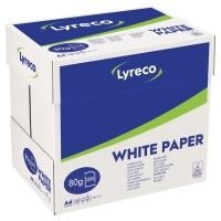 Lyreco wit papier A4 80g - doos van 2500 vellen