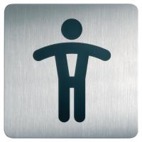 Samolepiace označenie Durable  WC , pánska toaleta