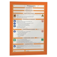 Pack de 2 marcos autoadhesivos MAGAFRAME™ formato A4 color naranja
