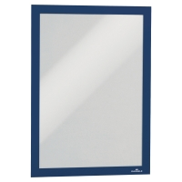 Samolepiace informačné puzdro Durable Duraframe, formát A4, modré, 2 ks