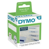 DYMO LABELWRITER CONSUMABLES SUSPENSION FILE LABEL 12X50MM WHITE - BOX OF 220