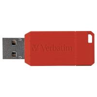 Verbatim Pïnstripe 2.0 USB stick rood 16GB