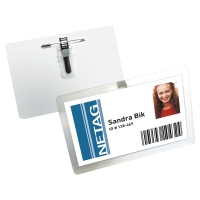 Pack de 25 identificadores DURABLE con pinza y alfiler