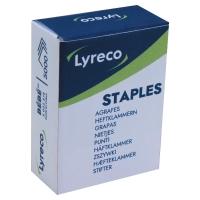 BOITE DE 5000 AGRAFES TYPE BEBE 8/4 LYRECO COLORIS DORE