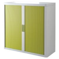 Paperflow roldeurkast 110x104,5x41,5cm groen/wit