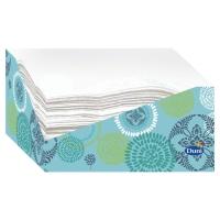 Paquete de 60 servilletas blancas DUNI con cajita dispensadora diseño flores