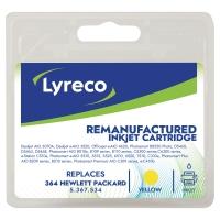 Cartucho de tinta LYRECO 364 amarillo compatible con HP para PhotoSmart C5380