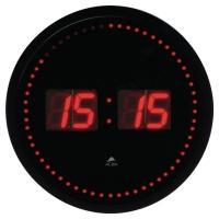 Zegar ścienny ALBA LED, czarny