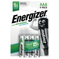 PACK 4 PILES RECHARGEABLES ENERGIZER EXTREME HR3/AAA 800 mAh