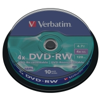 DVD-RW 4.7 GB 120 MIN VERBATIM - CONF.SPINDLE DA 10