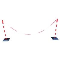 VISO Plastové stĺpiky s reťazou, farba červená/ biela