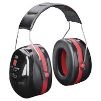 Kapselgehörschützer 3M Optime III, 35dB, mit Kopfbügel, rot/schwarz