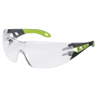 Schutzbrille Uvex 9192.225 Pheos, Filtertyp 2C, schwarz/grün, Scheibe farblos