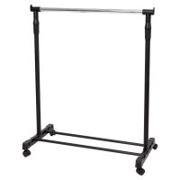 Perchero portátil tubo acero negro/metalizado ALBA Dimensiones: 88x103/180x42cm