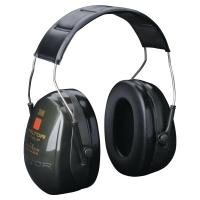 Kapselgehörschützer 3M Optime II, 31dB, mit Kopfbügel, grau/schwarz