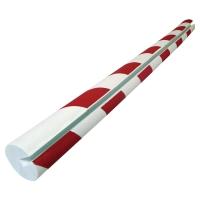 VISO Okrúhla ochrana rohu 40x20x8x750mm červená/biela