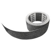 Cinta antideslizante para escalera VISO 5 m x 50 mm color negro