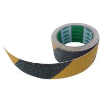 Cinta antideslizante para escalera VISO 5 m x 50 mm color negro / amarillo