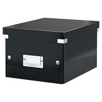 Odkladací box Leitz Click & Store, rozmer 21,6x16x28,2 cm, čierny
