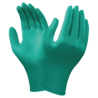 GUANTI MONOUSO IN NITRILE VERDE TOUCH N TUFF 92-600 ANSELL - TG 9 - CONF. 100