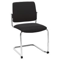 Freischwingender Besucher-Stuhl Prosedia, Polyester Stoff, schwarz