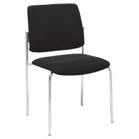 Interstuhl vierbeiniger Besucher-Stuhl, schwarz