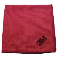 Pack de 10 bayetas Scotch Brite de microfibra Esencial color rojo 360x360mm