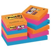 Post-it 622 Super Sticky vo farbách Bankok, 51 x 51 mm, 12 bločkov