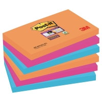 Post-it 655-6SS-EG Super Sticky Notes 76x127 mm Bangkok kleuren - pak 6
