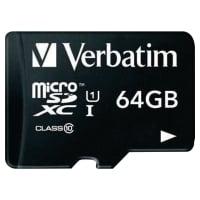 SDXC UHS-I VERBATIM MICRO 64GB CL10 MED ADAPTER