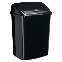 Contenedor con tapa basculante en polipropileno 50 litros negro