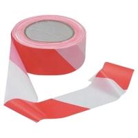VISO Výstražná páska 100m x 5cm biela/ červená
