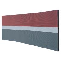 Flächen- und Wandschutz Viso PU352RBG, Zuschnitt 5m, 300x20mm, rot/weiss/schwarz