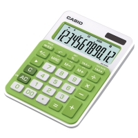 Calculadora de sobremesa CASIO MS-20NC de 12 dígitos color verde